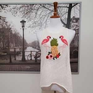 AE Crochet Boho Flamingo Pineapple Tank